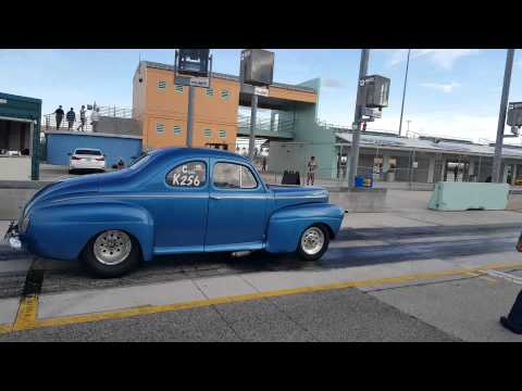 My 82 year old grandpa drag racing his 1941 ford that he bought and built himself 50 years ago