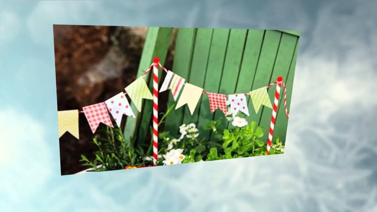 Украсить двор своими руками из подручных материалов