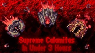 Calamity Speedrun: Supreme Calamitas Killed in Under 3 Hours!