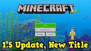 The Best Change Yet! - NEW Minecraft 1.5 Beta (Aquatic Update)