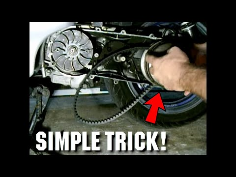 Simplest Way To Replace A GY6 Scooter CV Belt