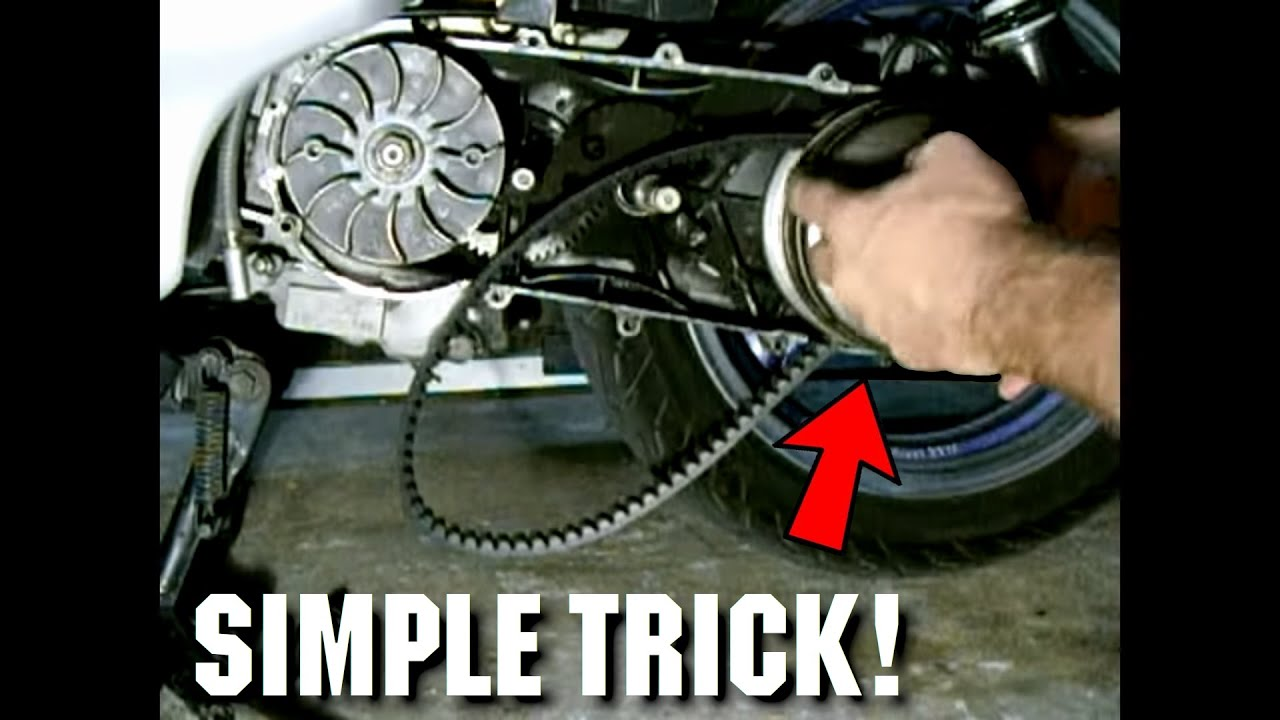 Simplest Way To Replace A GY6 Scooter CV Belt YouTube