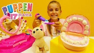 Puppen Mama 17 –  Wir lernen wie man die Zähne putzt