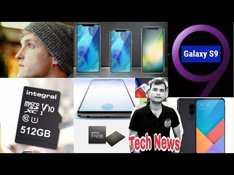 Tech News #104, iPhone Display Fingerprint, Vivo X20 Plus, 512GB SD Card, Logan Paul, Exynos, Note 5
