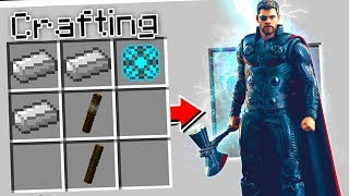 CRAFTING STORMBREAKER IN MINECRAFT!!