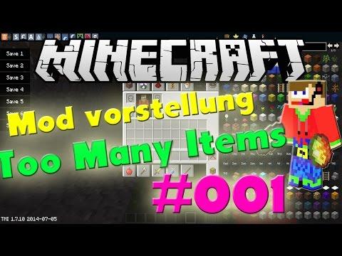 Minecraft Mod Vorstellung #001 + Installation [1.8] [Deutsch] [HD] -Too Many Ite
