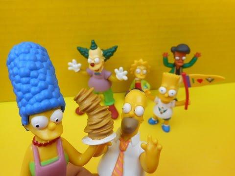 2009 Kfc Pfk Simpsons 20th Ans Set Of 6 Toys