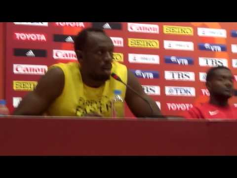 2015 World Champs Men's 100 Press Conference