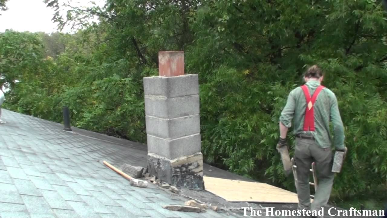 Tearing Down A Chimney Youtube
