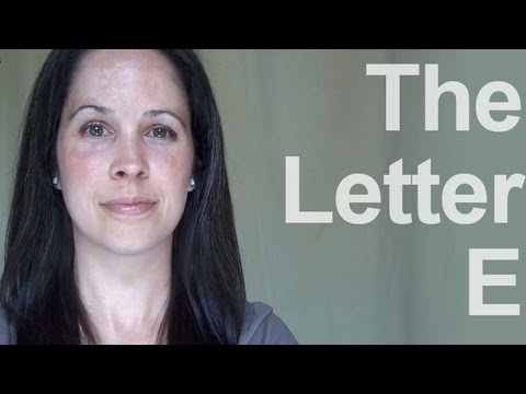 How to Pronounce the Letter E – American English