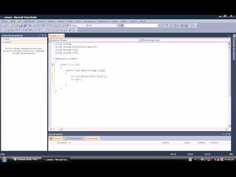 Curso C#  Lección 1.-Crear una aplicación de consola