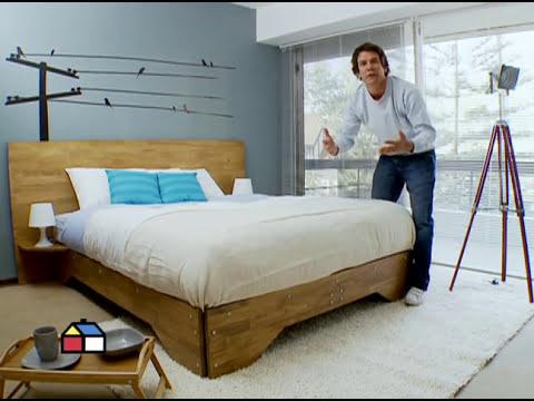 ¿Cómo hacer una cama de dos plaza?