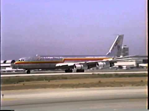 Florida West Airlines Boeing 707-351C Arriving at LAX
