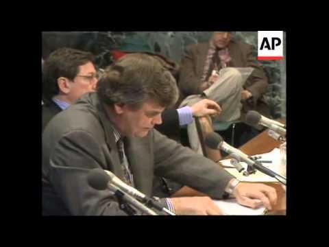 USA: WASHINGTON DC: US SENATE DEBATE OVER RELIEF TO BOSNIA