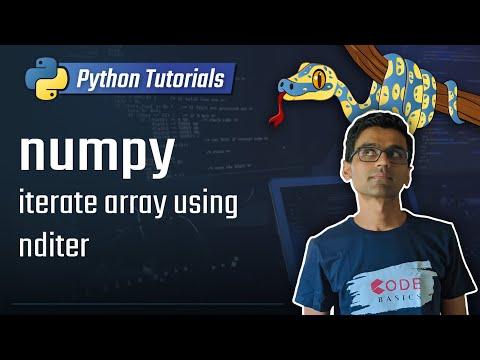numpy tutorial: iterate numpy array using nditer