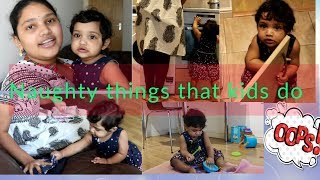 #DIML / MOM WORKS WITH NAUGHTY KID/ HAVING FUN WHEN BABY DOES NAUGHTY THINGS