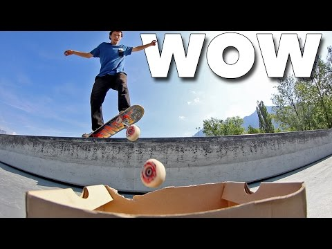 Incredible Skate Wheel Trick Shots!