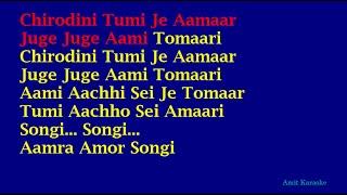 Chirodini Tumi Je Amar (Lyrics in English) - Kishore Kumar Bangla Karaoke