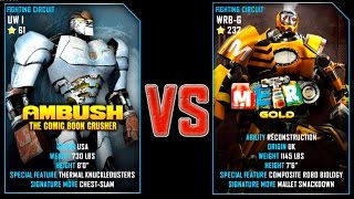 REAL STEEL WRB Ambush (61) VS METRO Gold (Champion)(232) New Robots UPDATE (Живая сталь)