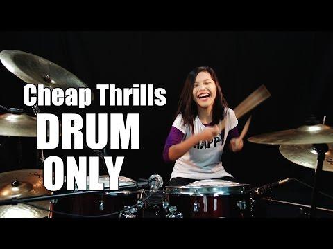 download lagu DRUM ONLY - Sia - Cheap Thrills Ft. Sean Paul - By Nur Amira Syahira gratis