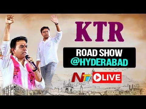 LIVE : KTR Road Show Hyderabad | Telangana Elections 2018 - TRS Election Campaign | NTV