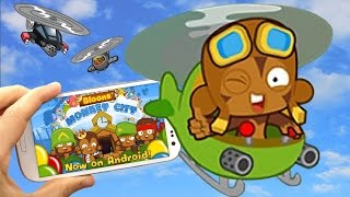 BMC Mobile - City Level 12 - Heli Pilot Crash Site Mission - Bloons Monkey City