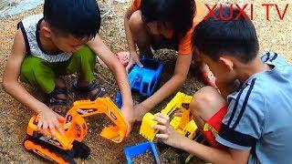 Trò Chơi Máy Xúc Máy Cẩu Giải Cứu Ô Tô| XuXI TV|Excavator Game Machine for Car Rescue