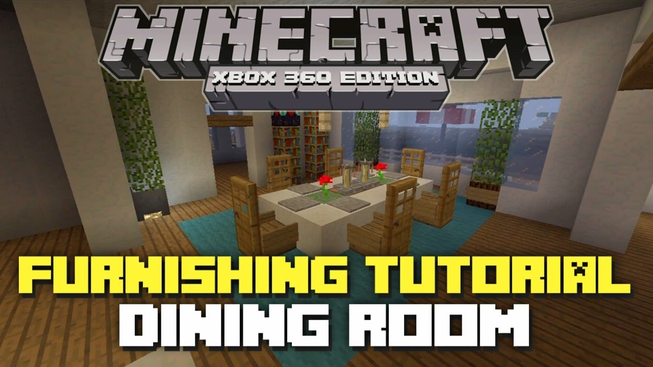 Minecraft xbox 360 furniture tutorial and ideas dining for Dining room minecraft