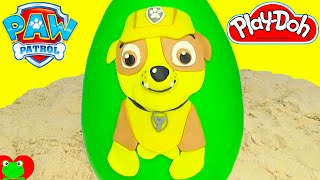 Paw Patrol Rubble Play Doh Surprise Egg Chase Marshall Shopkins