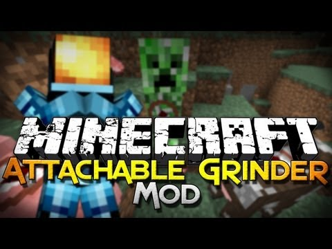 Minecraft Mod Showcase: Attachable Grinder - Harvest Easier!