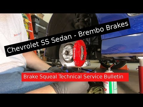 Chevy SS - Brembo Brake Squeal Noise TSB