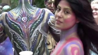 Download Body Painting Day  New York City#I Wore Body Paint Instead Of Clothes #SUPERB ART  WORLD BODY PAINTI 3Gp Mp4