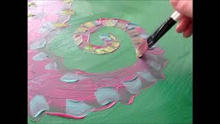 Purple Seahorse Drip Painting by Whitney LaRene