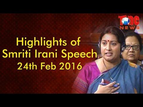 Smriti Irani Powerful Speech in Parliament || Highlights of Amazing Speech