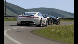 Battle Porsche Mission R vs Lamborghini Centenario at Highlands