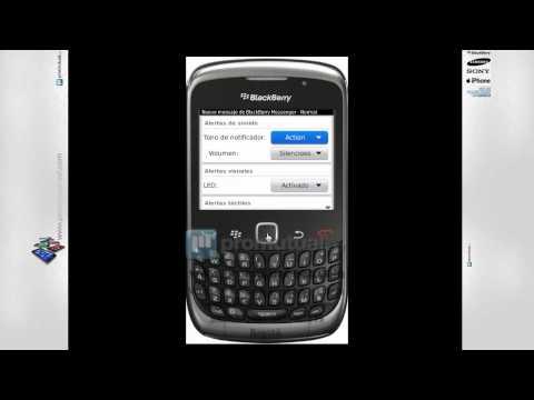Como cambiar sonido en BlackBerry Curve 8520, 9300, 9700 y otras