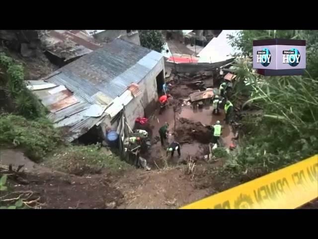 Tres integrantes de una familia mueren en deslave en Guatemala