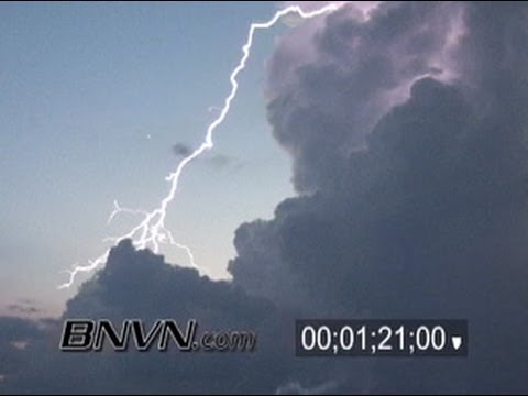 8/16/2005 Siesta Beach, Sarasota Florida Lightning Video