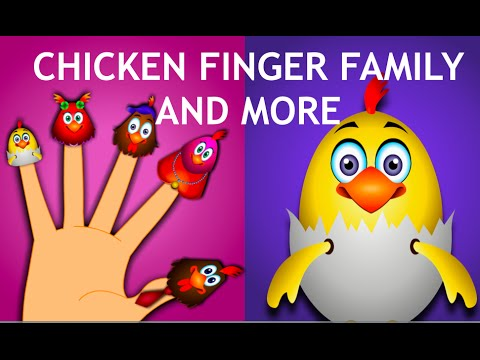 Chicken Finger Family & More Rhymes - Nursery Rhymes Collection video