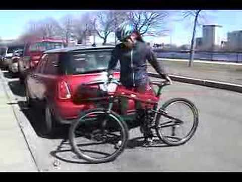 Montague SwissBike Folding Bike and  Zipcar - Park and Ride.