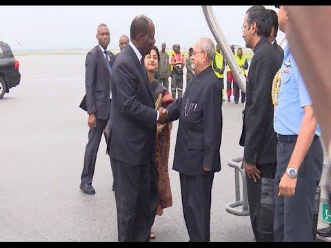 Côte d'Ivoire / Inde: Arrivée du président indien Shri Pranab Mukherjee à Abidjan