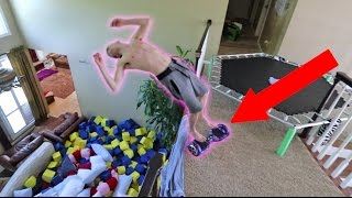 INSANE HOVERBOARD FLIPS OFF THE BALCONY!