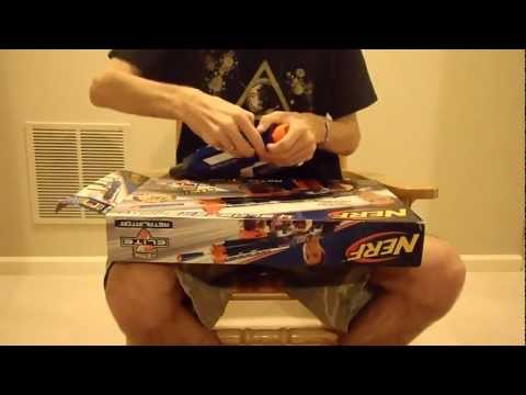 Review: The New 2012 Nerf Elite Retaliator Unboxing and Demo