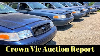 Government Auction Ford Crown Vic Police Cars