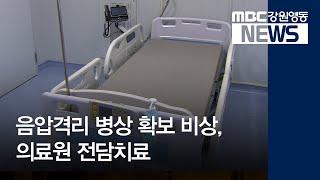 R)도내 음압격리 병상 포화, 의료원 전담치료