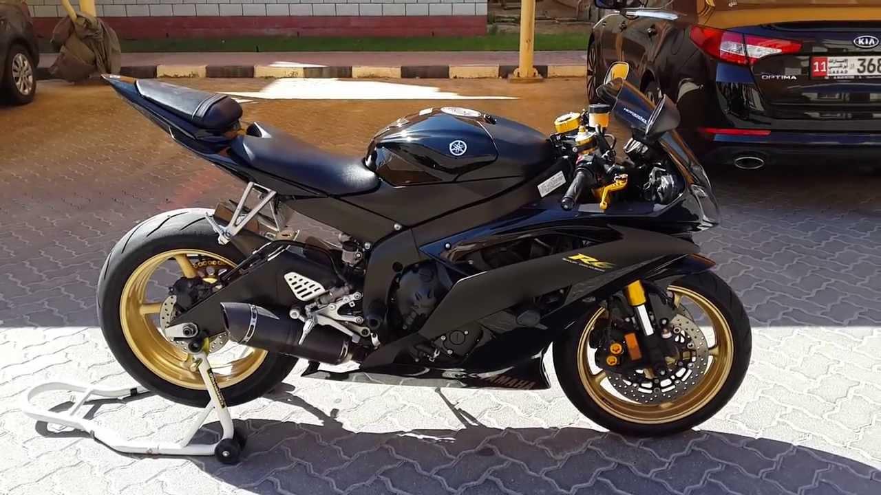 Yamaha R Black Whte Rims