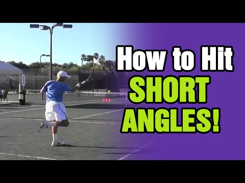 Tennis lessons learn how to hit short angles