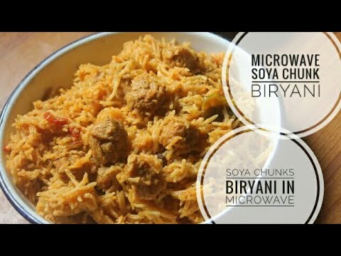 Helthy Soya chunks Biryani ||How to make high protein soya chunks Biryani-Microwave pulav Recipe