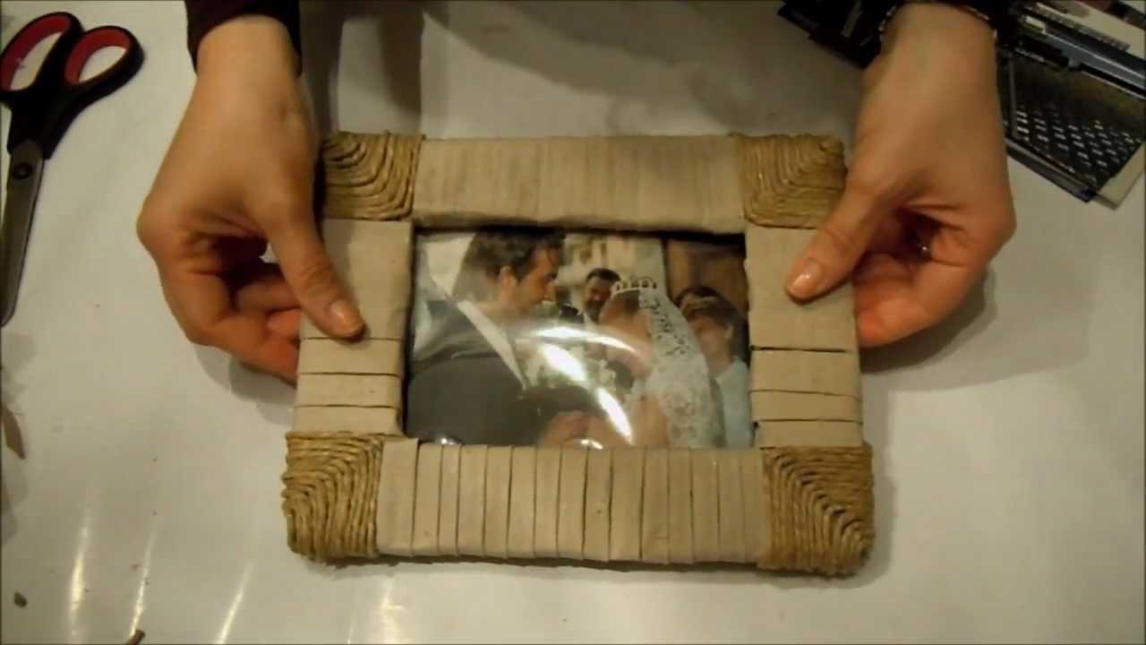 Festa del Papà - costruiamo una cornice (Fai da te) - Arte per Te - - YouTube