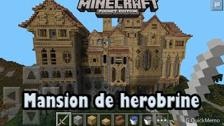 Descarga mansion de herobrine para minecraft pe 0.9.5 alpha